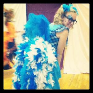 This is me as Gertrude McFuzz in the production of Seussical!